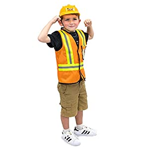 Construction Worker Childrenu0027s Dress Up Clothes Roleplay Halloween Costume  sc 1 st  Funtober & Construction Worker Childrenu0027s Dress Up Clothes Roleplay Halloween ...
