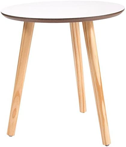 JAXPETY Three Legged End Table Modern Round Coffee Table Side Table