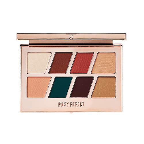PONY EFFECT Master Eye Palette Matte 11g, 4.5 Ounces, Eyeshadow Palette, Matte High Pigment, Everyday Makeup, Must-have color, Natural makeup, Hunter Green color Nudes