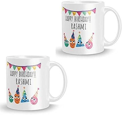 Buy Khakee Rashmi Personalised Custom Name Happy Birthday Ceramic