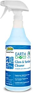 OdoBan Odor 934062-Q12 Earth Choice Glass and Surface Cleaner , Thirty-two ounce Spray