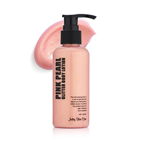 Juicy Skin Care Gold Glitter up! - Pink Pearl glitter Body lotion & Smoothing Lotion. (Pink Pearl) ()
