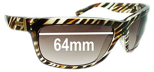 Ultimate Gold Mirror Brown Pair-Polarized SFx Replacement Sunglass Lenses fits Von Zipper Mod Con 64mm Wide