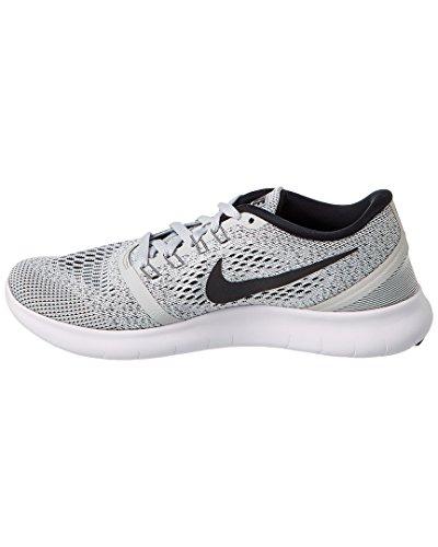 Nike Para Mujer Libre Rn Zapatilla De Running Blanco / / Platino Puro Negro 12 Envío gratis confiable 4FzftxAfn8