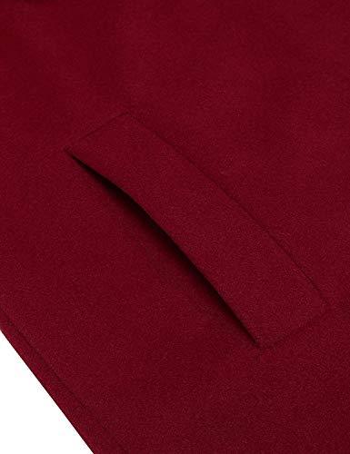 Bolsillos Parka Color Primavera Windbreaker Elegante Especial Mujer Laterales Estilo Winered Sólido Otoño Chaqueta Largos Moda Chaqueta Cinturón Fit Slim Abrigos con 8wXI8pqF