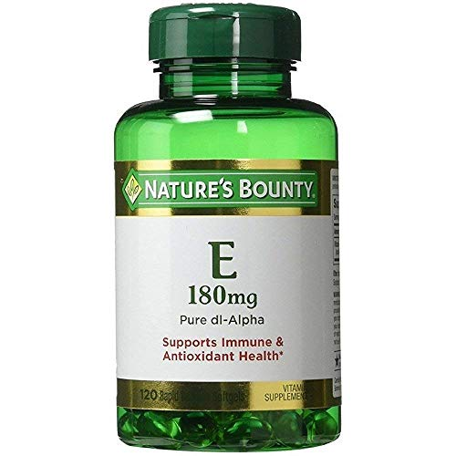 - Nature's Bounty Vitamin E Pills and Supplement, Supports Antioxidant Health, 400iu, 3 Pack, 120 Softgels each