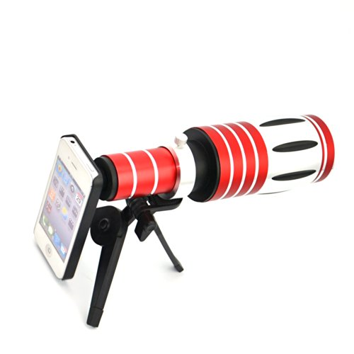 Apexel 50X Optical Zoom Aluminum Telescope/ Telephoto Lens Kit with Tripod/ Back Case for iPhone 6 by Apexel (Image #4)
