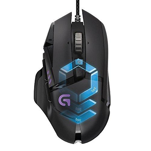 Logitech G502 - Ratón Para Gaming (iluminación RGB), color negro