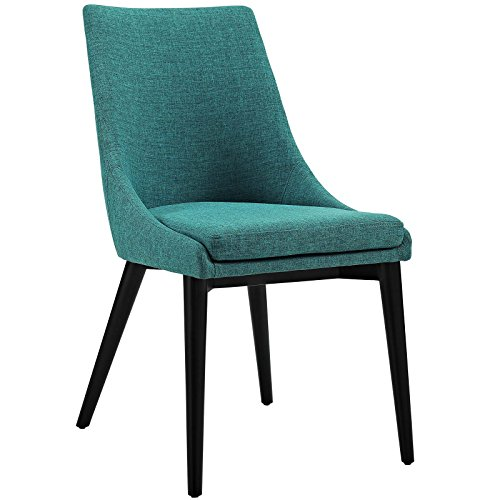 Cheap Modway Viscount Fabric Upholstered Dining Side Chair in Teal