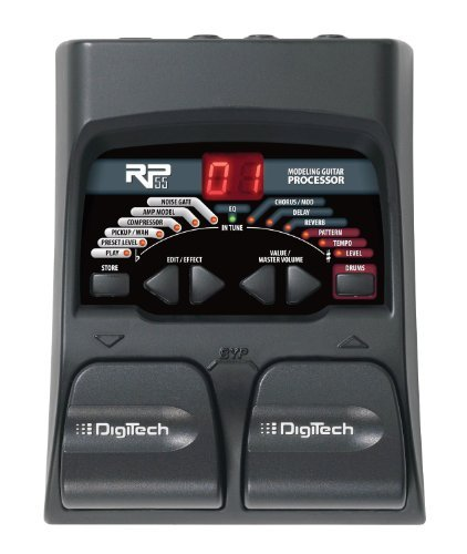 DigiTech RP55 Guitar Multi-Effects Processor With A Pair of Patch Cables