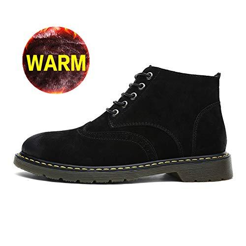 FHCGMX Super Warm Men Stiefel Winter Leder Stiefel Wasserdichte Gummistiefel mit Retro Stiefeletten für Herren Winterschuhe