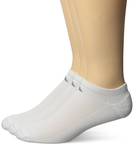 adidas Men's ClimaCool Superlite 3-Pack No Show Socks, White/Light Onix/Medium Lead,X-Large,fits shoe size 12-15 from adidas
