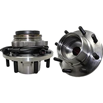 Detroit Axle - Pair (2) Coarse Threads Front Wheel Hub and Bearing Assembly  w/ABS for 1999-2004 F-350 Super Duty/F-250 Super Duty - [2000-2002