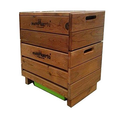 Vermicompostador madera completo Multihuerto: Amazon.es: Jardín
