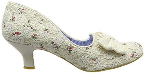 Irregular Choice Women's Dazzles 2nd Razzle Closed-Toe Pumps Off-white (Cream Floral) lWSWqX
