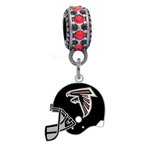Final Touch Gifts Atlanta Falcons Helmet Charm Fits Most Bracelet Lines