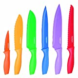 Good Kitchen Knives Set Cuisinart Advantage 12-Piece Knife Set, Bright (6 knives and 6 knife covers), C55-01-12PCKS