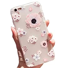 For iPhone 5 5S SE Case,Vandot Transparent Frosted TPU Soft Silicone Gel Case Cover Retro Flower Cute & Screen guard Girls Floral Pattern Clear Slim Flexible Silicone Glossy Phone case