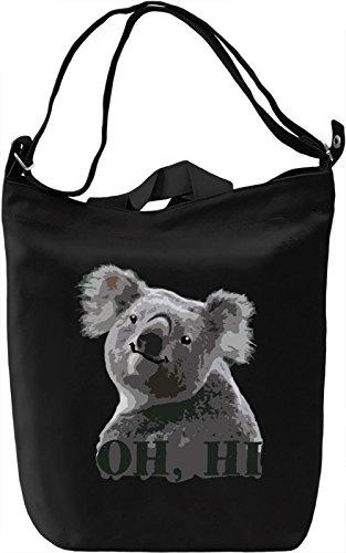 Koala Borsa Giornaliera Canvas Canvas Day Bag| 100% Premium Cotton Canvas| DTG Printing|