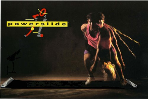 8ft Powerslide Slide Board Lateral Exercise Trainer (Medium Booties)