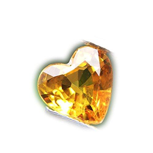 (Lovemom 1.01ct Natural Heart Orange Sapphire Songea Tanzania #PU)