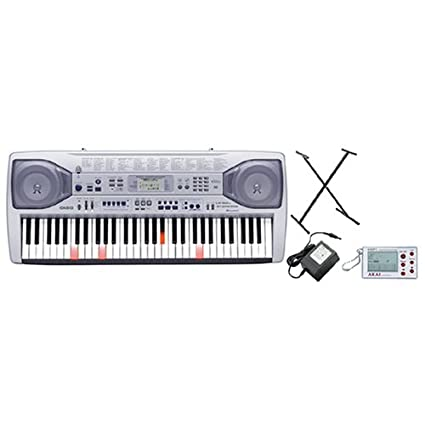 Casio Lk90tv Keyboard Package With Power Supply Keyboard Stand And
