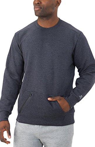 Russell Athletic Men's Cotton Rich Fleece Sweatshirt, Charcoal Grey Heather, XXL
