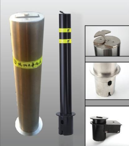 Removable Steel Bollard (ALEKO SBL-RM1 Steel Removable Safety Round Post Bollard 4-1/4