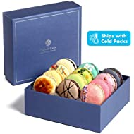 Kayla's Cake Premium French Macarons Cookies Gift Baskets Gourmet Chocolate Box Food Desserts Birthday Snack Care Packages College Students Holiday Christmas Thank You Macaroon Women Men Classic 12
