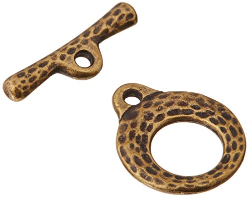 - TierraCast Toggle Clasp Makers, 8 by 11mm, Antiqued Brass Oxide Finish Pewter, 2-Sets/Pack