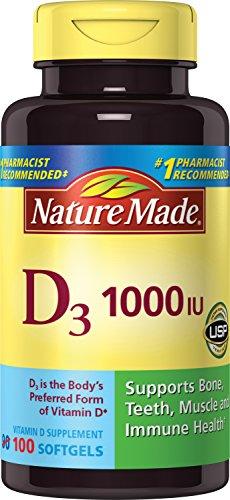 Nature Made, Vitamin D3 1,000 I.u. Liquid Softgels, 100-Count