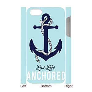 3D Kyle5v Anchor IPhone 4/4s Cases A64792ecab55ed7f3042e7d9a6838fdf for Teen Girls Protective, Case for Iphone 4s for Girls, {White}
