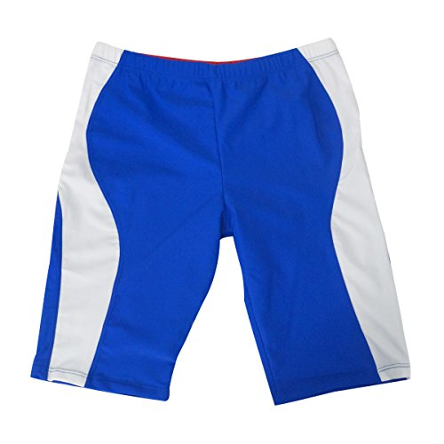 Aivtalk Boys Jammer Swimsuit Lightweight Adjustable Elastic Band Mesh Lined Bathing Suit Summer Beach Boardshorts 8-10T Navy