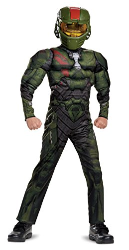Halo Wars 2 Jerome Classic Muscle Costume, Green, Medium (7-8) -