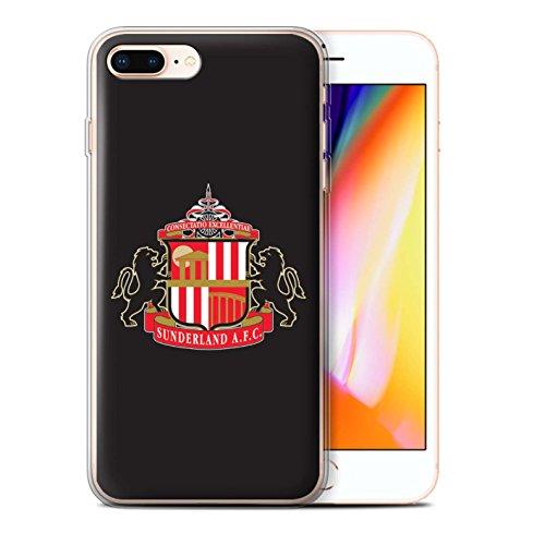 Officiel Sunderland AFC Coque / Etui Gel TPU pour Apple iPhone 8 Plus / Noir Design / SAFC Crête Club Football Collection