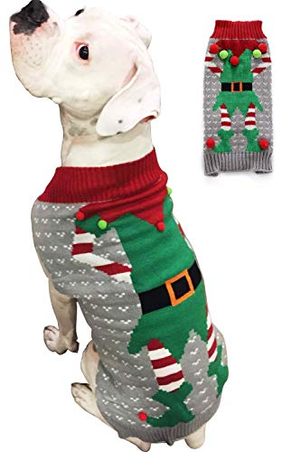 BOBIBI Dog Sweater for Christmas Pet Cat Winter Knitwear Warm Clothes