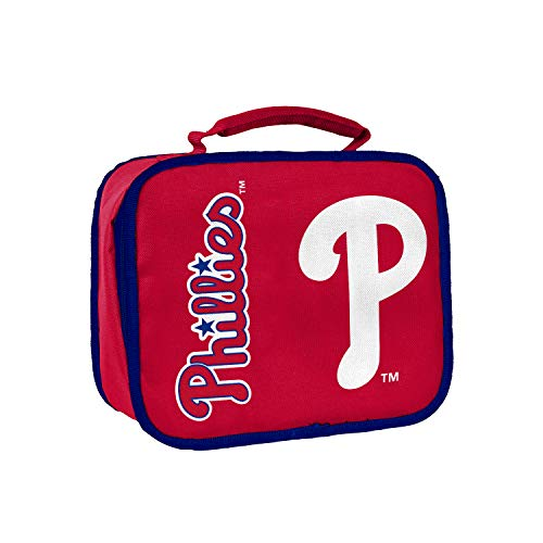Officially Licensed MLB Philadelphia Phillies Sacked Lunchbox, 10.5-Inch, Red