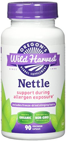 Oregon's Wild Harvest Nettle (F.D.) Capsules, Non-GMO  Herbal Supplements (Packaging May Vary), 90 Count (Leaf Nettle Dried Freeze)