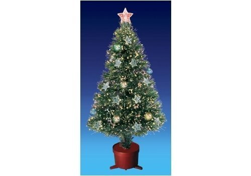 Beautiful 4ft 120cm Green Fibre Optic Christmas Tree Amazon Uk