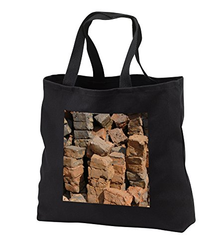 Danita Delimont – objects – Asia, Vietnam. Hand made clay bricks, Long Xuyen – Tote Bags – Black Tote Bag 14w x 14h x 3d (tb_226082_1)
