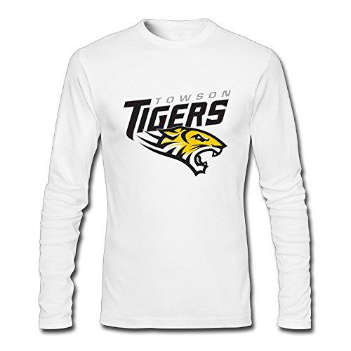 Long Sleeve Male Towson University Tshirt T Shirts 90s 80s Crew ()