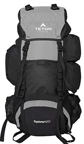 TETON Sports Explorer 4000 Internal Frame Backpack; High-Performance Backpack for