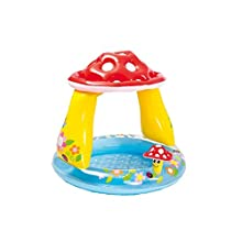 Intex-57114 Piscina hinchable champiñón, multicolor, 102 x 102 x 89 cm (57114)