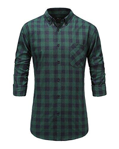 Green Button Down Collar - 2