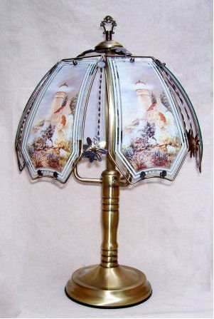 - OK LIGHITNG OK-632AB-BN4-SP3 24 in. Lighthouse with Angel Antique Brass Touch Lamp