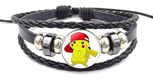 Main Street 24/7 Pikachu with Ash's Hat Glass Domed Symbol Braided Bracelet -