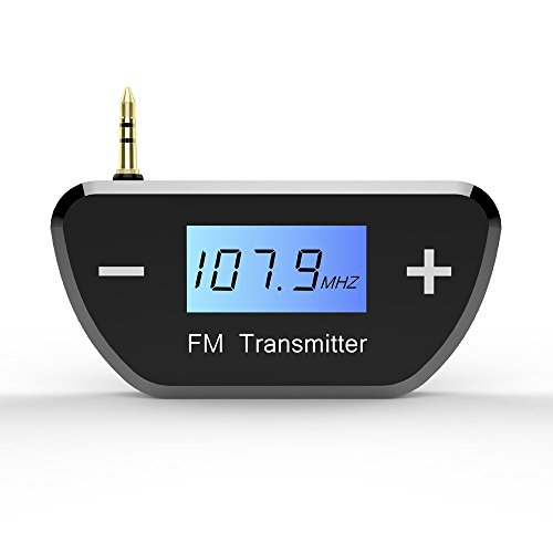 TNP FM Transmitters Wireless Radio AUX Adapter - Mini Universal 3.5mm Plug Jack for Car iPhone 6 5 iPod iPad Android Smartphone Tablet PC Desktop Laptop MP3 MP4 Audio Players Stereo System by TNP Products