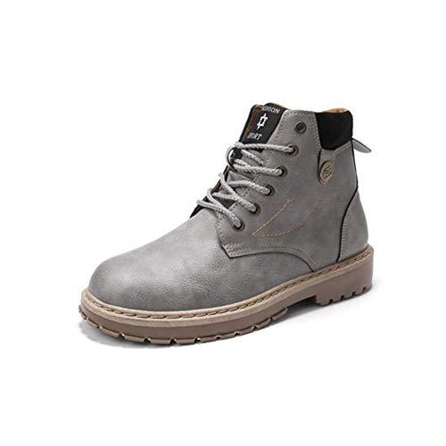 UK6 Gris Bottes Couleur Bottes Bottes Adolescents Martin EU39 CN39 Size Cuir Cowboy Big FH Hautes Bottes en Headwear Sauvage 6WTqH