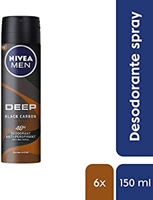 NIVEA MEN Deep Espresso Spray Desodorante 150 ml - 6 unidades ...