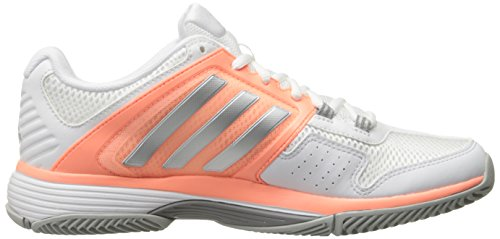 Adidas Performance barricada Club de Formación de zapatos, choque verde / blanco / verde equipos, 5 White/Metallic Silver/Sun Glow Yellow